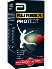 Abbott Surbex Protect, Multivitamin w/ CoQ10, 50 tabs, Pack of 2
